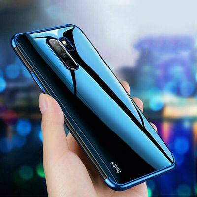 For Xiaomi Redmi Note 8 Pro Clear Crystal Plating Soft Silicone TPU Case Cover