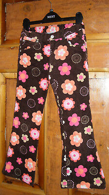 Girls Floral Suedette Bootcut Trousers Age 7