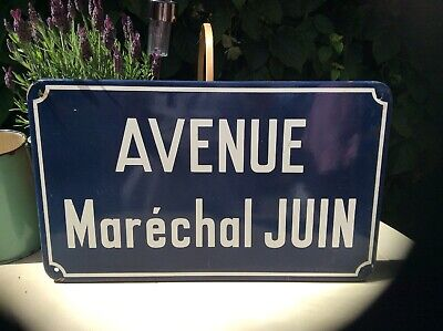 Genuine French Enamel Street Sign