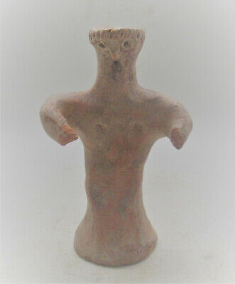 Scarce Ancient Mycenaean Terracotta 'Psi' Idol Circa 1500Bce