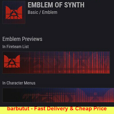 Destiny 2 Emblem of Synth Fast DELIVERY CHEAP PS4 XBOX PC New Code Basic