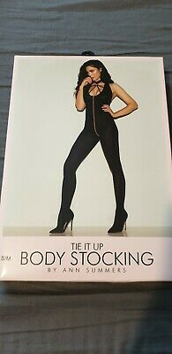 Ann Summers Tie It Up Body Stocking, Size S/M