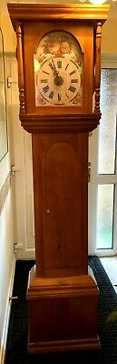 "81"" High Pine Cased Longcased Grandfather Clock"
