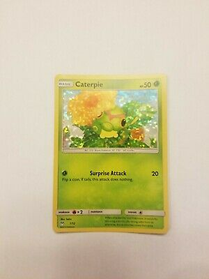 2019 McDonalds Happy Meal Pokemon HOLOGRAPHIC HOLO Promo Card CATERPIE #1/12