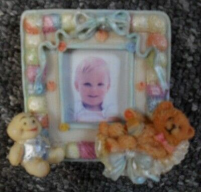 teddy bear ornated photo frame in perfect condition