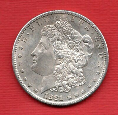 1881 Usa Silver Morgan Dollar Coin. San Francisco Mint. United States Of America