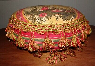 """14"""" Antique French Home Decor Beautiful Pillow with tassels"""