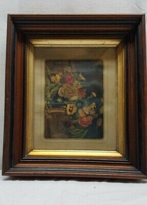 Antique Gold Gilt Deep Well Picture Frame Eastlake Walnut Victorian Shadow Box