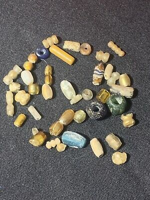 Ancient Egyptian/Roman Glass & Stone Beads NO RESERVE PRICE!