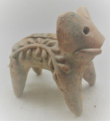 Circa 2000Bce Ancient Indus Valley Terracotta Harappan Elephant Statue