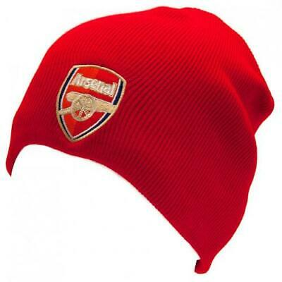 Arsenal FC Official Crested Knitted Hat Size Adult Unisex Present The Gunners