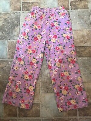 Girl's Lilac Floral Mini Boden Trousers Size 3-4 Years