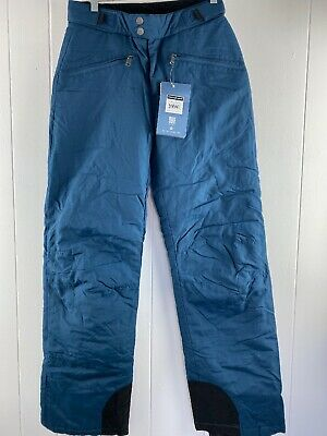 NWT White Sierra Toboggan Blue Insulated Water Resistant Snow Pants Women Size S