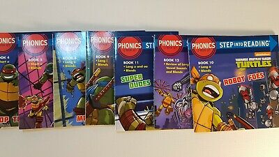 Step Into Reading - TMNT Childrens Kids Phonics Collection - Education Learning