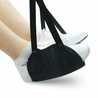 Comfy Hanger Travel Airplane Footrest Hammock Foot Foam Memory with Black M O7G4