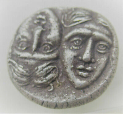 Ancient Greek Ar Silver Stater Coin Istros Twins And Eagle