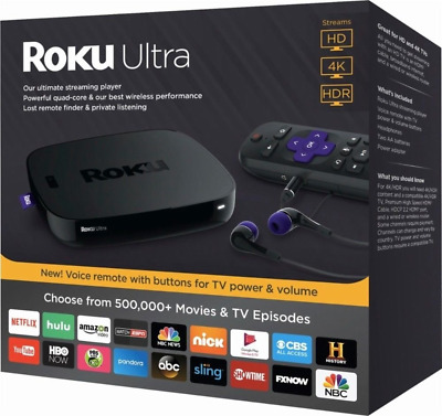 Roku Ultra 4K HD HDR Media Streaming Player Device - 4660R, *OUT OF BOX*