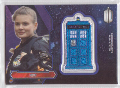 """2015 Topps """"Doctor Who"""" Purple Tardis Patch Trading Card (A) Featuring ACE"""
