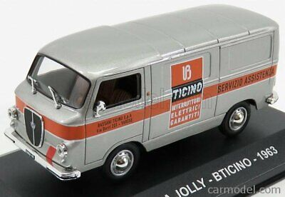 Edicola vpdc082 scala 1/43 lancia jolly van bticino 1963 silver orange