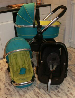 Lovely Icandy Peach  Blue Green Sweet  Travel System 3 In 1 Maxi Cosi  Car Seat