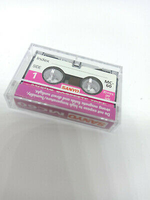 Sanyo MC-60 MC60 60 Minutes MICRO Cassette Tape for Voice Recorders Dictaphone
