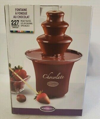 Chocolate Fondue Fountain Nostalgia Electronics 2 Tier