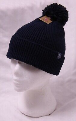 New Gorgeous Joules French Navy Bobble Hat One Size