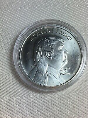 Great Presidential Donald Trump Coin .999 Pure Silver In Capsule