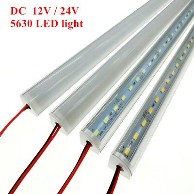 Wall Corner DC 12V 24V 5630 LED Strip Light Bar V Aluminum Case Milk Clear Cover