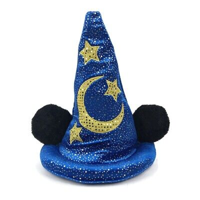 Disneyland Mickey Mouse Fantasia Blue Sorcerers Wizard Hat Light Up Disney Adult