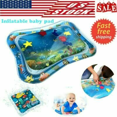 USA Inflatable Baby Water Mat Novelty Play for Infants Kids Children Tummy Time