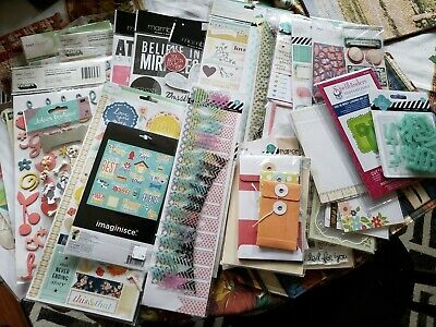 NEW Lot of 37 packages Scrapbooking Stickers Embellishments Decorative Elements