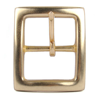 "1 1//2/"" SOLID BRASS HEAVY  DEEP CURVED ROLLER  BELT BUCKLE  FOR 38mm STRAP"