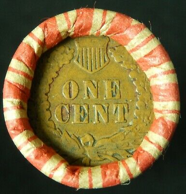 Wheat Cent Roll Indian Head Penny end OLD US Coins IHC Hay Penny Pennies Lot