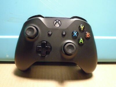 Microsoft Xbox One S Wireless Bluetooth Controller 1708 (BLACK) -PARTS or REPAIR