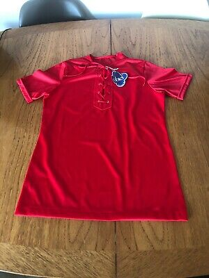 Vintage French Childs New Unworn Red Nylon Top T-Shirt 1970s Retro