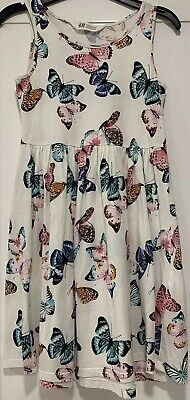 Girls H&M Butterfly Print Dress 134/140cm Aged 8-10