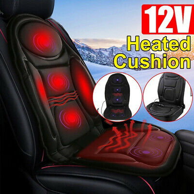 Heated Car Seat Cushion Cover Auto 12V Heating Heater Warmer Pad Winter