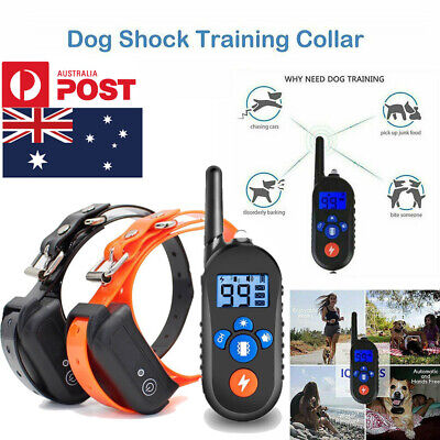 Rechargeable Anti Bark Dog Training Collar Stop Barking Pet Trainer No-S-hock AU