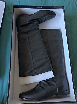 Wittner Starcity Leather Black Boots Star City Size 37