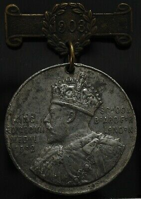 1903 Edward V11 UK London School Attendance Medal