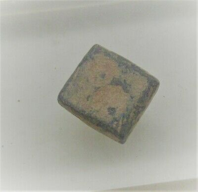 Ancient Roman Bronze Gaming Piece With Ring And Dot Motifs
