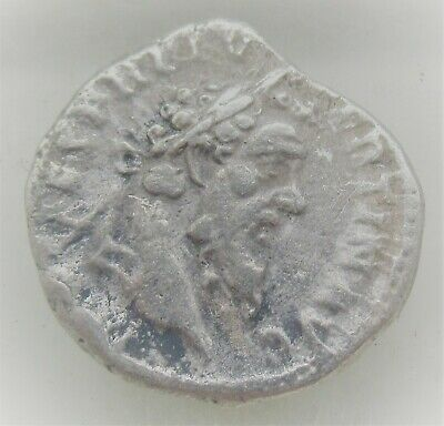 Unresearched Ancient Roman Ar Silver Denarius