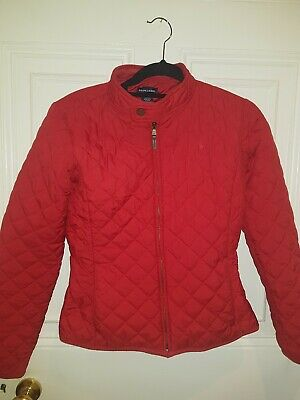 Ralph Lauren Girl's Red Quilted Jacket XL Age 16