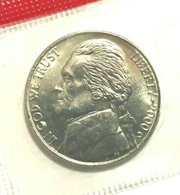 1988 P /& D JEFFERSON NICKEL SET 2 COINS *MINT CELLO*  **FREE SHIPPING**