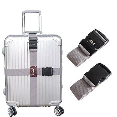 Travel Luggage Security Strap Suitcase Packing Belts Adjustable with Lock Clip