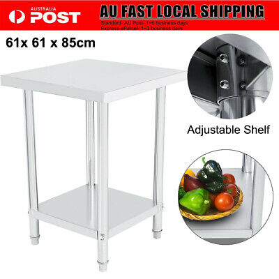 610mm 430 Stainless Steel Kitchen Work Bench Top Food Grade Catering Prep Table