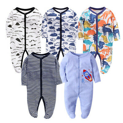 1pc newborn infant Baby boys girls cool birthday bodysuit cotton daily jumpers