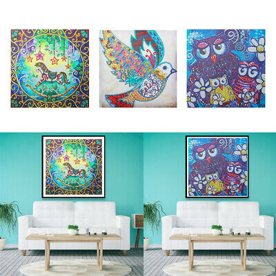 5D DIY Special Shaped Diamond Painting Embroidery Crystal Colorful Animal