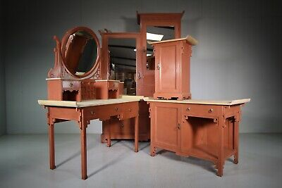 19th Century Liberty's of London Antique Bedroom Suite